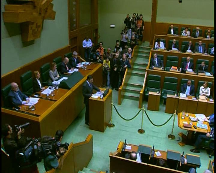 Video  Basque Parliament elects Patxi López as new president of Basque regional government