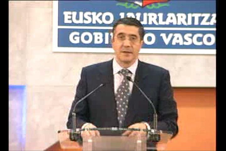 """Video Los Presupuestos de 2010 """"ponen las bases de la nueva economía vasca"""""""