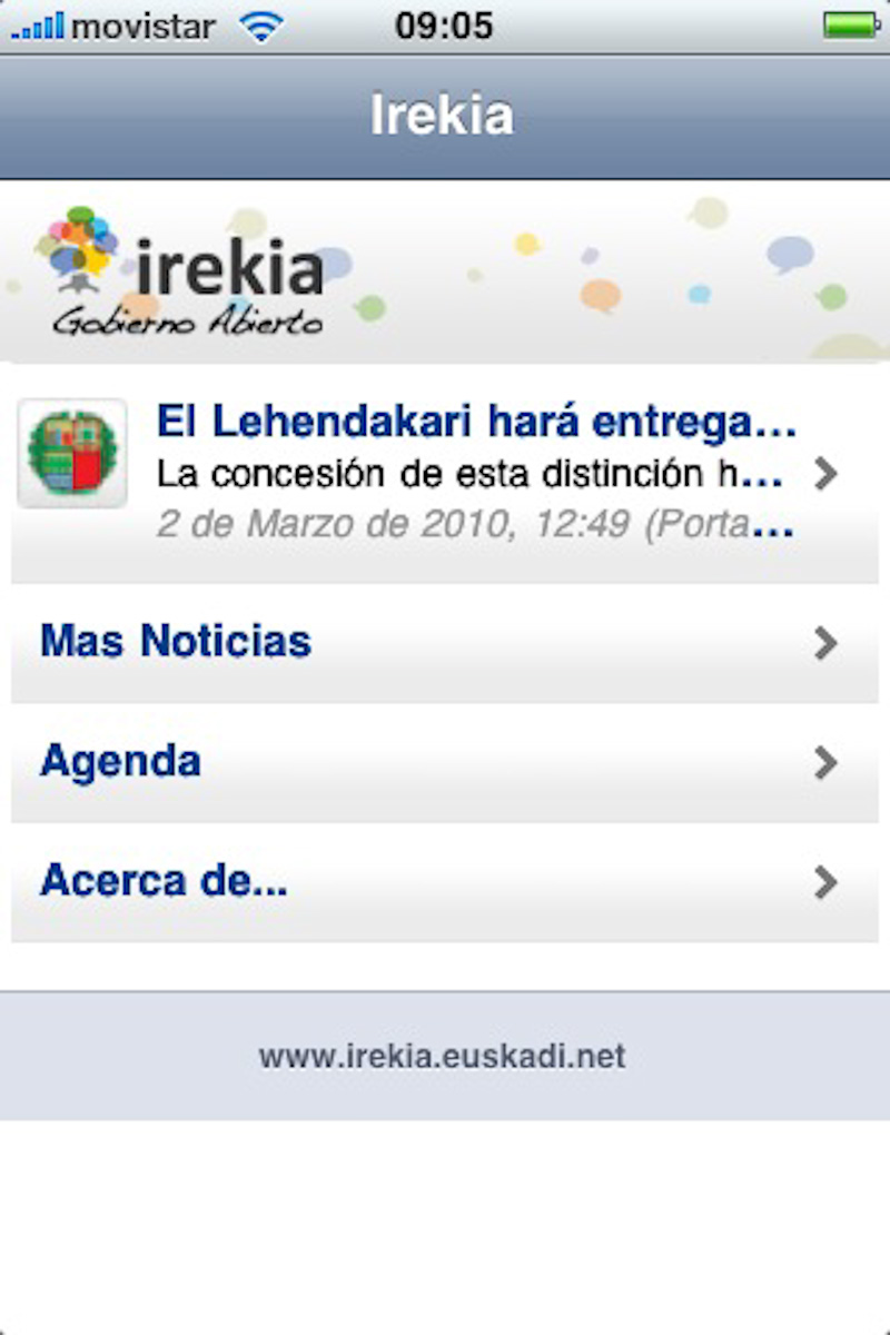 Browsing Irekia with your iPhone or Android