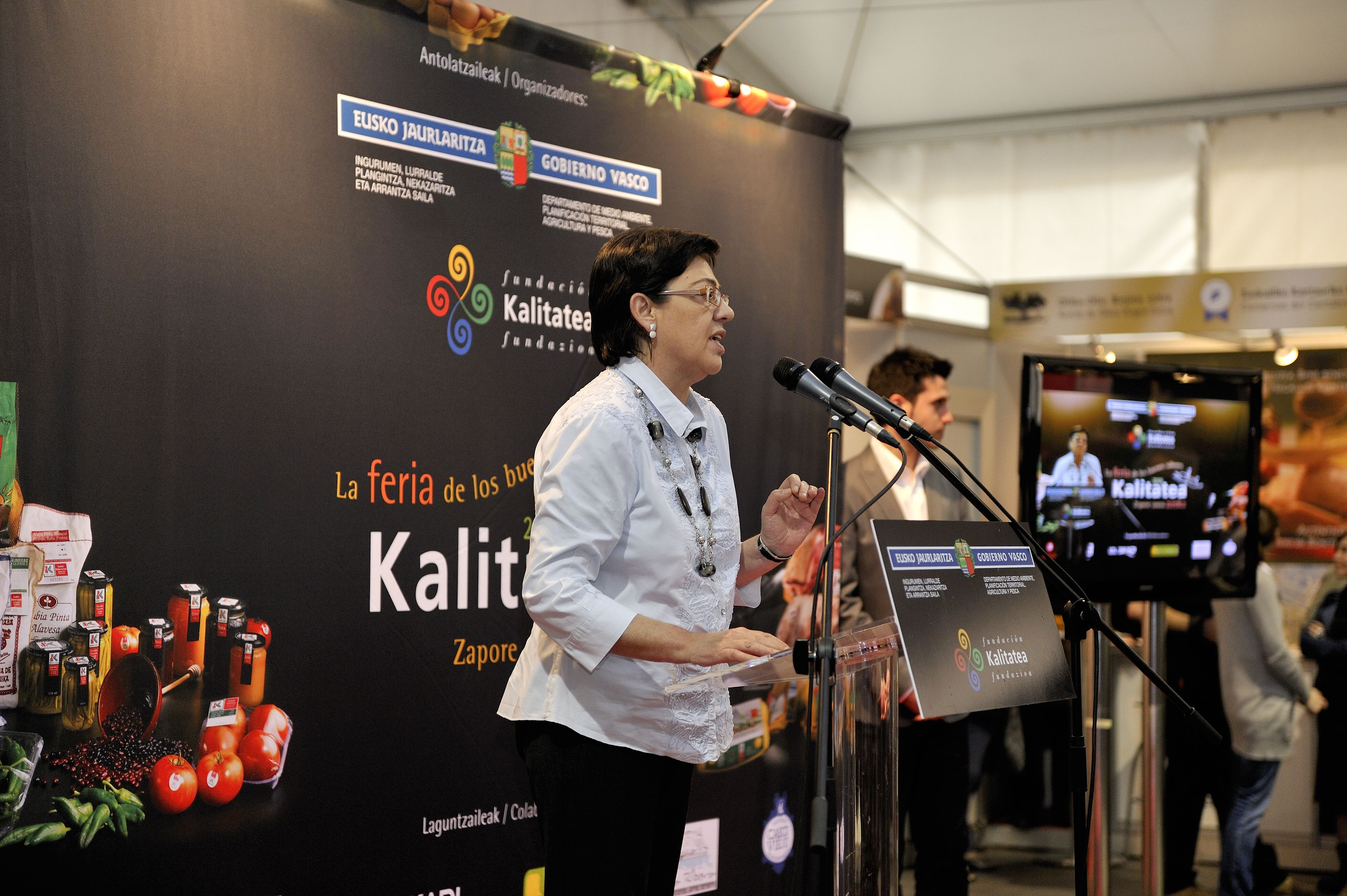 Inauguracin I Feria Kalitatea; La feria de los buenos sabores