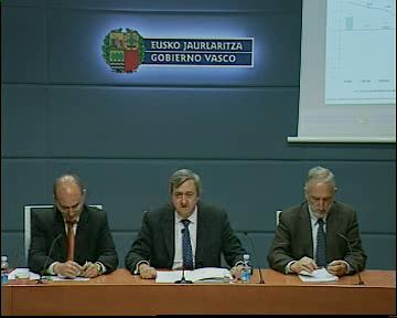 The Minister of the Economy and Treasury presents economic figures for the first-quarter of 2010 in the Basque Country