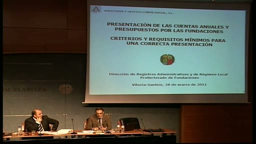 Video El auditor Juan Manuel Lorenzo participar en la quinta jornada del Curso de Fundaciones, centrada en la presentacin de cuentas anuales