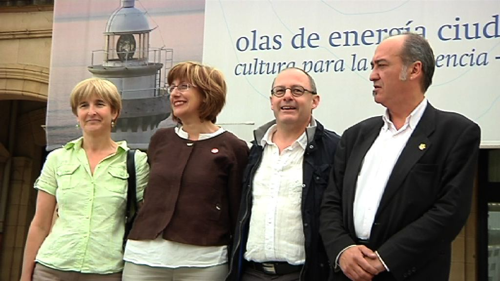 Video Las instituciones vascas se unen en defensa de Donostia como Capital Europea de la Cultura 2016