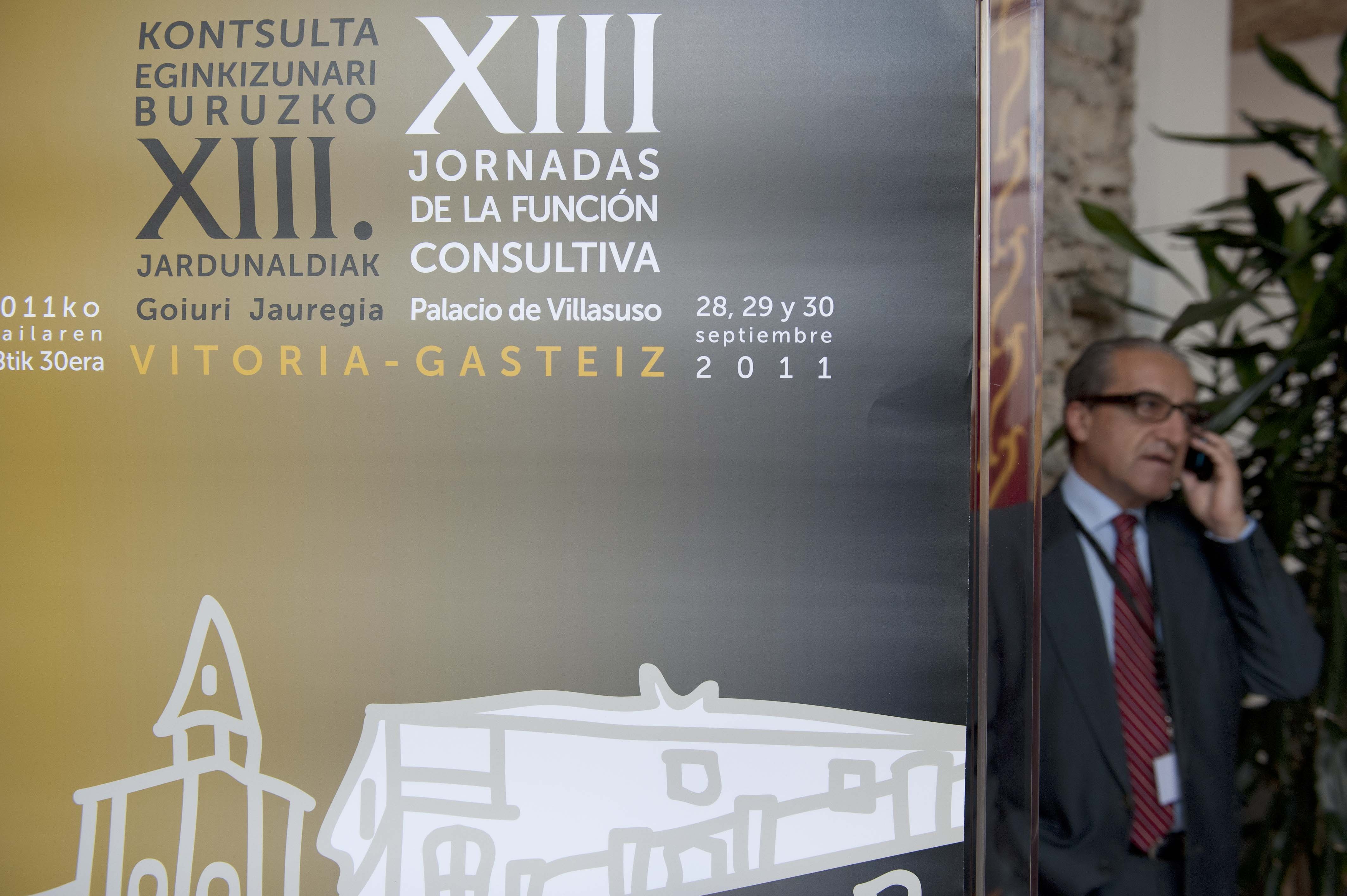 Idoia Mendia participa en las XIII Jornadas de la Funcin Consultiva, organizadas por la Comisin Jurdica Asesora de Euskadi