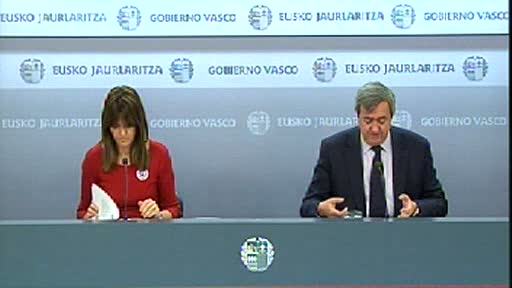Video Rueda de prensa de la portavoz del Gobierno Vasco, Idoia Mendia, y del consejero de Economía y Hacienda, Carlos Aguirre