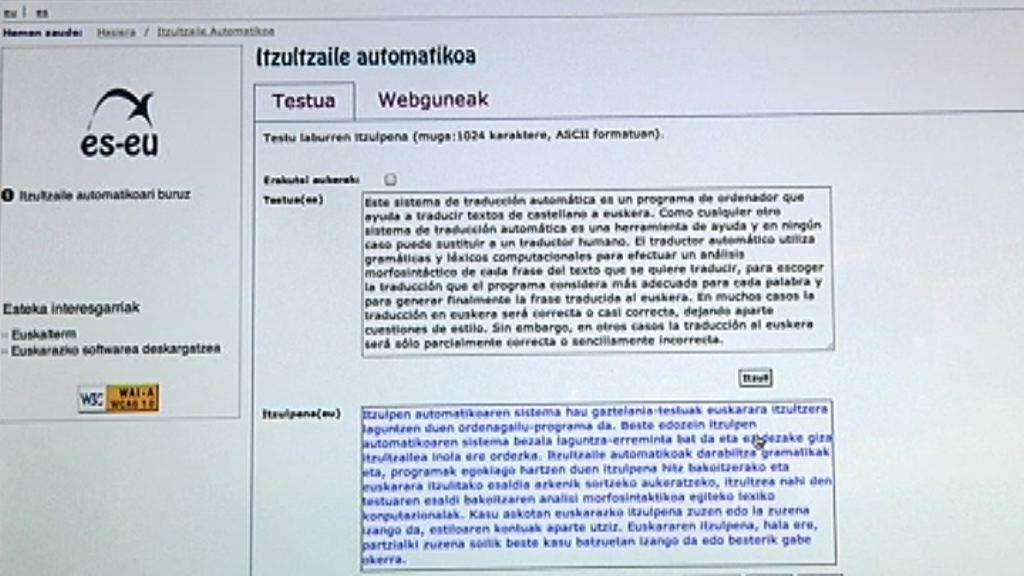¿Cómo funciona el traductor castellano-euskera? [1:09]