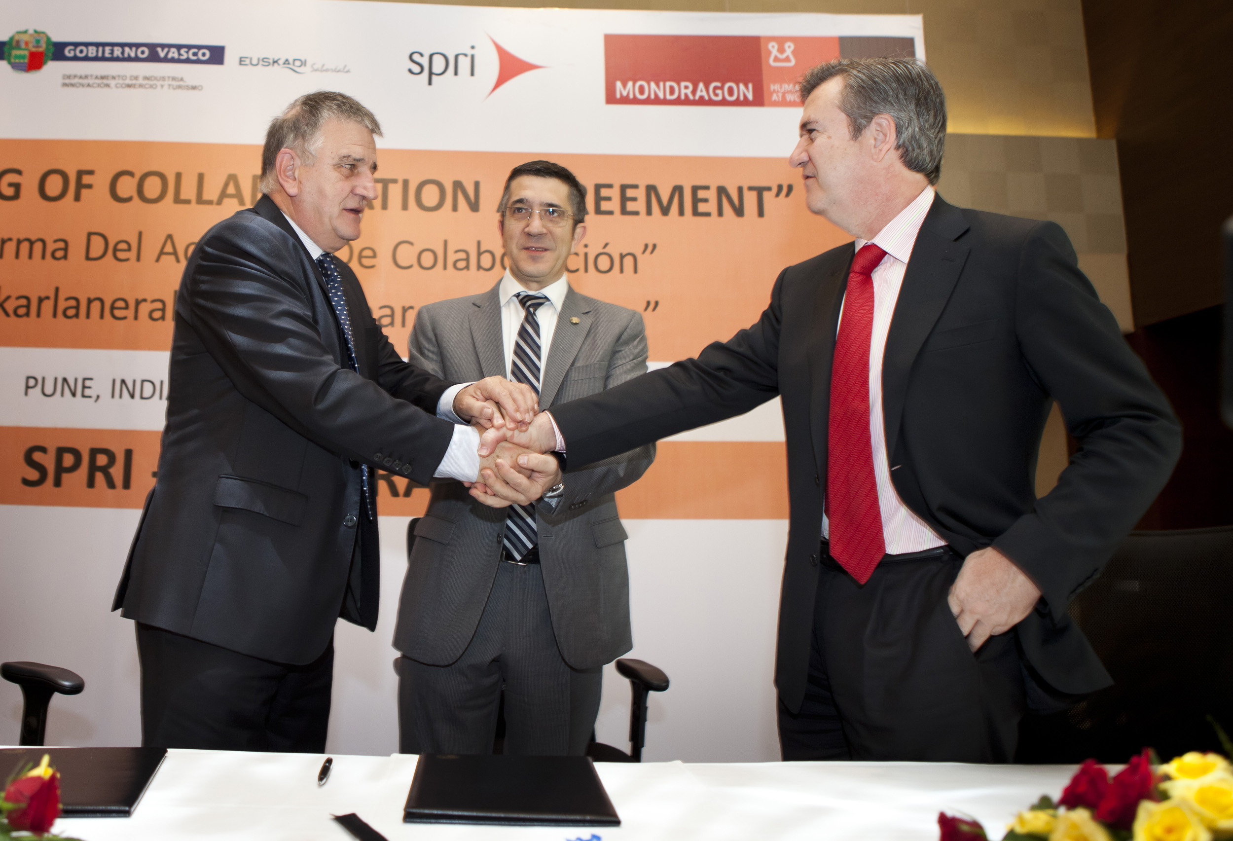 SPRI signs an agreement with Corporación Mondragón for Basque companies not part of the cooperative to be able to set up at its business park in India