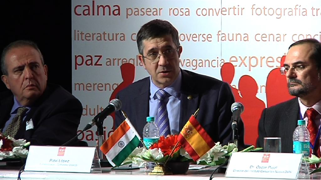 "Video The Lehendakari explains the ""Basque industrial competitiveness model"" in India"