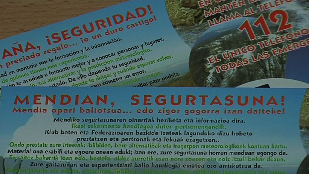 Video El Gobierno Vasco impulsa una campaña de prevención dirigida a los amantes de la montaña