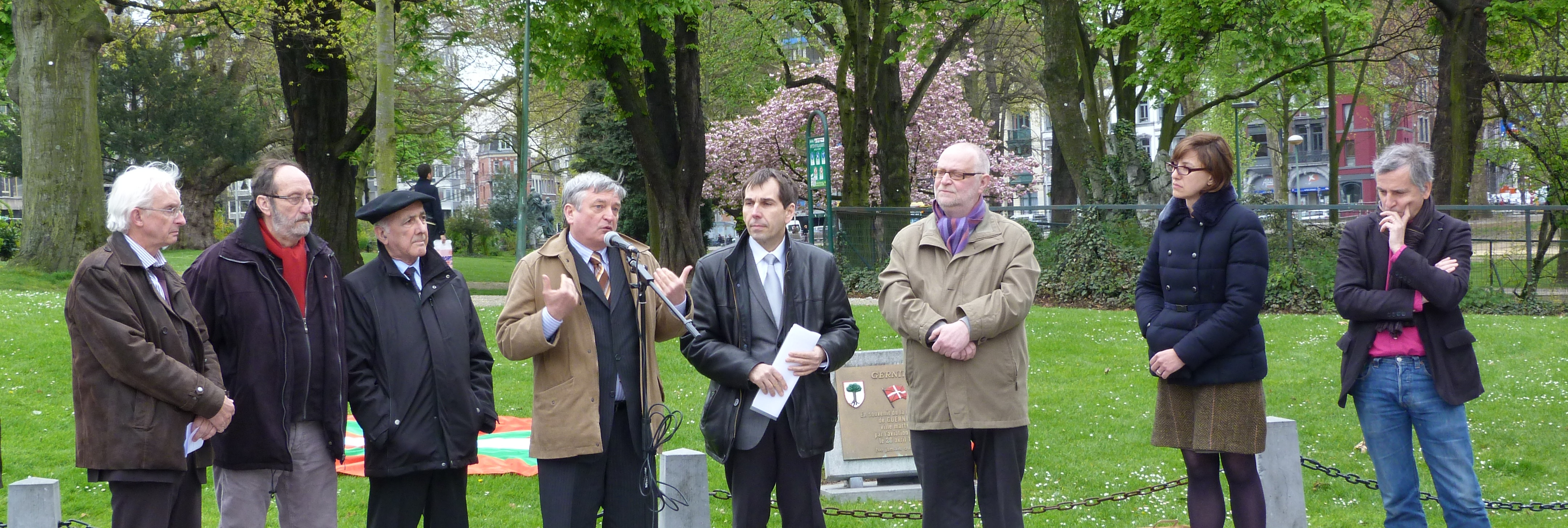 The city of Liege kicks off the ceremonies to commemorate the 75th anniversary of the Bombing of Gernika in Belgium