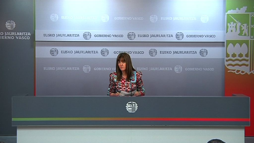Video Rueda de prensa de la portavoz del Gobierno Vasco, Idoia Mendia