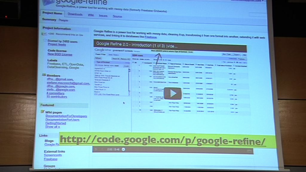 Video Introducción a Google Refine (Curso periodismo de datos 4/10)