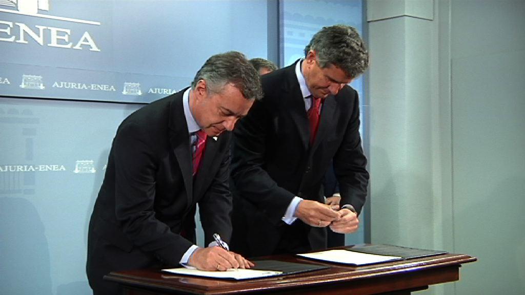 Video El Lehendakari y el Presidente de Gestamp firman un protocolo para facilitar la implantación en Euskadi de un centro de formación de excelencia en tecnologías avanzada