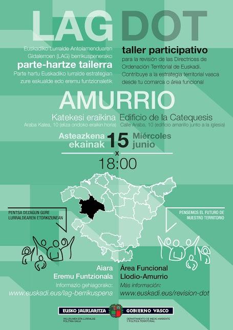 Cartel taller participativo Amurrio