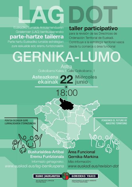 Cartel taller participativo Gernika-Lumo