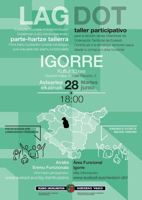 Cartel taller participativo Igorre