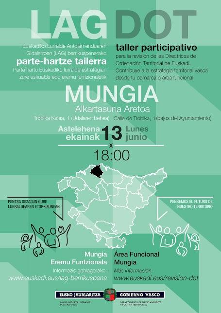 Cartel taller participativo Mungia