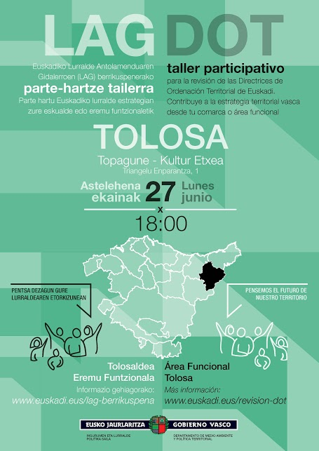 Cartel taller participativo Tolosa