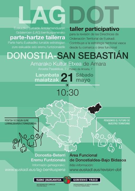 Cartel taller participativo Donostia